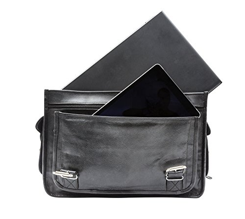 "Porterbello Knightsbridge, Cartable pour Femme Noir noir Will carry up to 17"" Laptop"