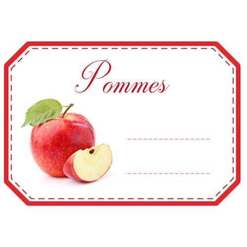 'Lotto di 30 etichette adesive 'Mele per marmellata, purea e conserve Casa Mon Bio Jardin