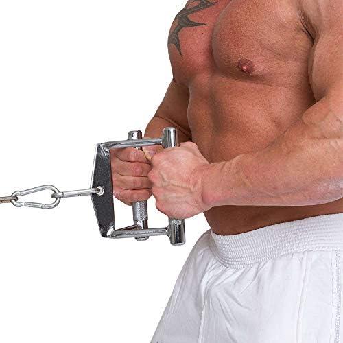 Krafttraining Parallel-Griff Vollstahl 14cm Sports Set Trizeps-Seil 70cm C.P rutschfest//verchromt Bodybuilding Kabelzug 2X Karabinerhaken 80mm x 8mm Zughilfen f/ür Bizeps//Trizeps Training