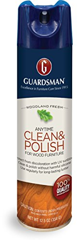 Guardsman Clean & Polish For Wood Furniture – Woodland Fresh – 12.5 oz – Silicone Free, UV Protection – 460700