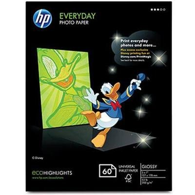 HP Q1987A Inkjet Brochure/Flyer Paper, 98 Brightness, 48lb, 8-1/2 x 11, White, - Hp Glossy Paper Brochure