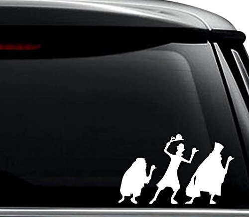 (Haunted Mansion Decal Sticker For Use On Laptop, Helmet, Car, Truck, Motorcycle, Windows, Bumper, Wall, and Decor Size- [6 inch] / [15 cm] Wide / Color- Gloss White)