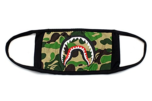 st Aid Kits Bape Green Shark Face Mask ()