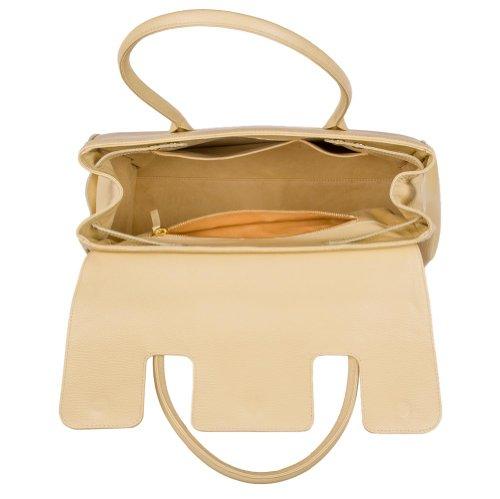 """Handtasche """"Madison"""" aus Leder von diboni ® - crema/beige"""