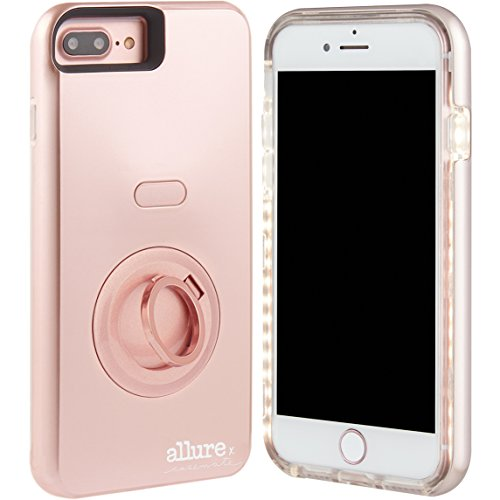 Case-Mate iPhone 7 Plus Case - Allure Selfie - LED Selfie Light Illuminated Cell Phone Case - Rose Gold (Compatible with iPhone 6/6S Plus ) (Best Promo Code Sites)