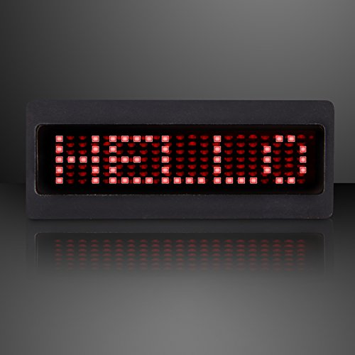Red MINI Scrolling Text LED Badges