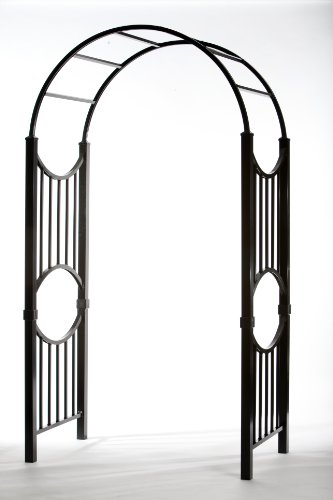 (Specrail Manchester ARBORSPEC2BL Aluminum Garden Arbor Kit, 96 by 47 by 38-Inch, Black)