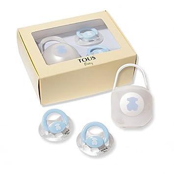 Amazon.com : Pack 2 Chupetes + chupetero azul : Baby