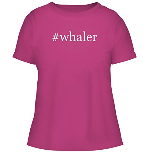 BH Cool Designs #Whaler - Cute Women's Graphic Tee, Fuchsia, X-Large