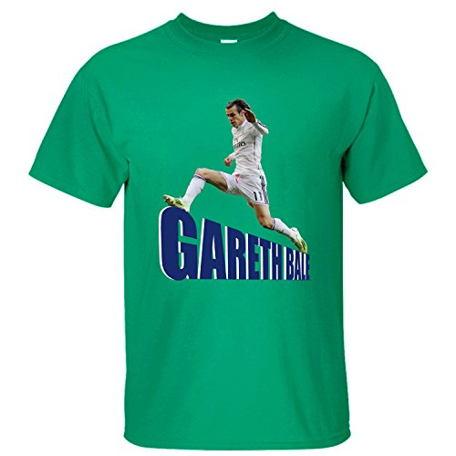 WDFO Gareth Bale Cheer On Custom Men T Shirt Cotton green ()
