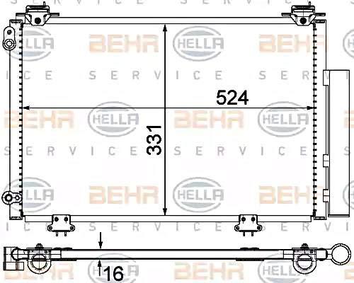 Klimaanlage BEHR HELLA SERVICE 8FC 351 300-264  Kondensator