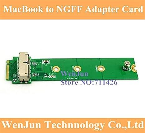 Computer Cables Yoton PCI Express PCI-E 4X M.2 Yoton M-Key to 2013 2014 2015 for Apple MacBook SSD Convert Card A1493 A1502 A1465 A1466 Cable Length 3PCS