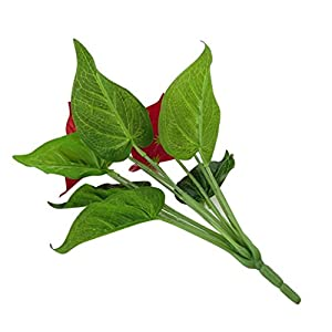 Ameesi 1 Pc Artificial Plants Red Anthurium Fake Flowers Lifelike Indoor Decoration 59