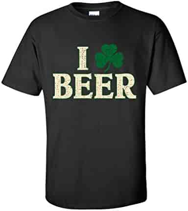 Feelin Good Tees Clover Beer Sarcastic Men's ST Patty Irish Funny ST Patrick's Day T Shirt
