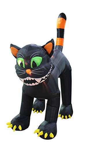 Black Cat Blow Up Halloween Decoration (11 Foot Tall Animated Halloween Inflatable Black)