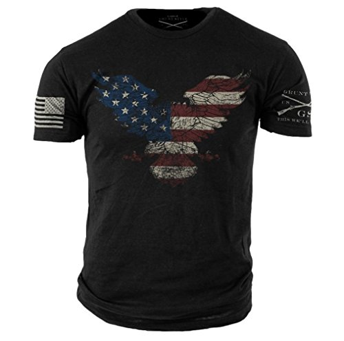 Grunt Style Freedom Eagle Men's T-Shirt (Large) (Freedom Eagle T-shirt)