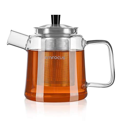 Glass Teapot with Infuser, Blooming and Loose Leaf Tea Pot T