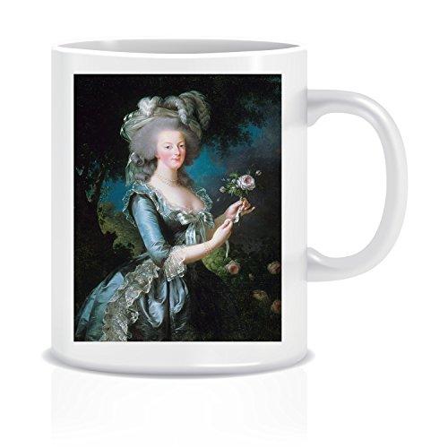 Marie Antoinette Rose (Le Vigee Lebrun) Coffee Tea White Ceramic Mug Cup (Antoinette Cup)