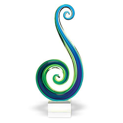 Badash Marina Murano Style Art Glass Centerpiece