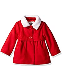 Baby Girls Sweet Faux Wool Jacket Dress Coat
