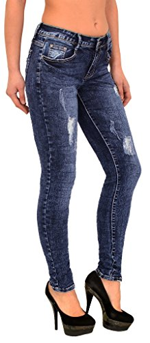 Straigh J299 Destroyed S800 Look Jeans Pantalon Stretch Femmes Jean Slim Fit Dechire Femme Fit qw4SZYO