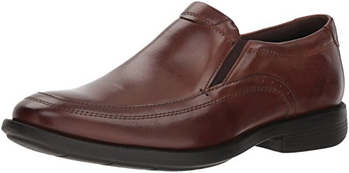 Nunn Bush Men Dylan Moc Toe Slip On Loafer with KORE Comfort Walking Technology, Brown, 11