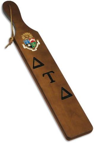 "Delta Tau Delta Raised Wood Crest 3.5/"" Paddle Accessory"