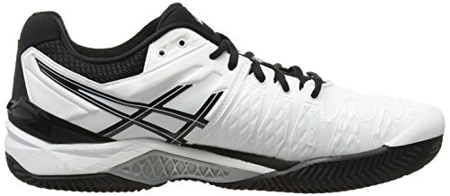 Asics Gel-resolution 6 Clay - Zapatillas de tenis Hombre Blanco - White (White/Black/Silver 0190)