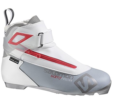 Salomon Prolink Siam 7 Light Boot - Women's Grey/Red, US 8.5/UK (Tour Womens Ski Boots)