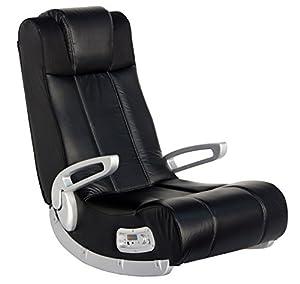 X-Rocker 5127301 Ii Se Black Wireless/Rails/Ff-Speakers/Silver Plastic Arms by X Rocker