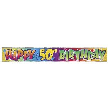 Cartel Lámina Feliz 50mo Cumpleaños: Amazon.es: Juguetes y ...