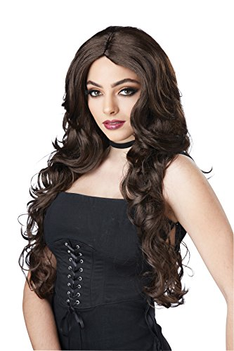 California Costumes Women's Celebrity Glam Wig, Brunette, One (Brunette Halloween Costumes)