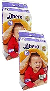 Image result for Libero Medium size open diapers(2packs, 40 counts per pack)