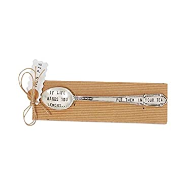 Mud Pie Life Hands You Lemons Tea Spoon, Silver