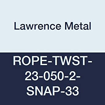 2 Black Snap Ends 2.5 Height 1.5 Wide 5 0 Lawrence metal ROPE-TWST-23-050-2-SNAP-33 Blue Twisted Plastic Rope 60 Length 5/' 0 2.5 Height 1.5 Wide 60 Length Tensator Group