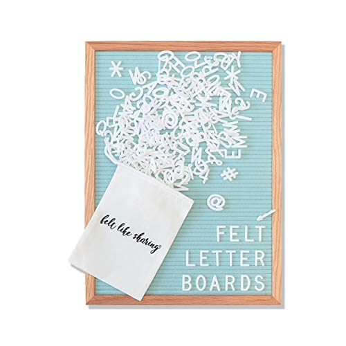 Seafoam Green Felt Letter Board 12x16 Inches. Changeable Letter Boards Include 348 1