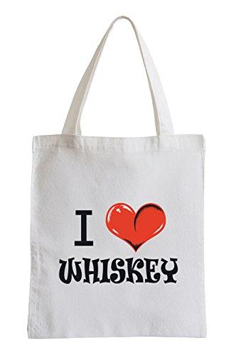 Mi piace il whisky Fun sacchetto di iuta