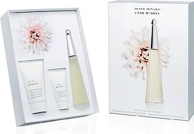 L'eau D'Issey 3 Piece Gift Set for Women 3.3oz. EDT Spray| 2.6oz. Body Cream| 1oz. Shower Cream