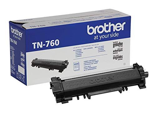 Cartucho original de Brother TN760 tóner negro de alto rendimiento