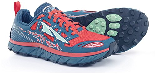 Altra Women's Lone Peak 3 Trail Runner, Red/Deep Sea, 7.5 M US