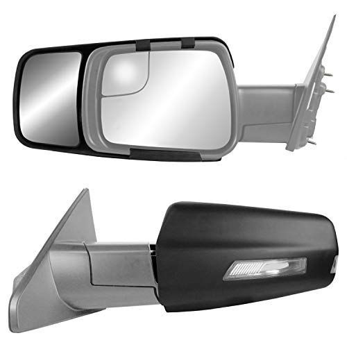 K Source 80730 Snap & Zap Custom Fit Towing Mirror for Dodge Ram 1500 Non-Classic Models (2019+), Pair
