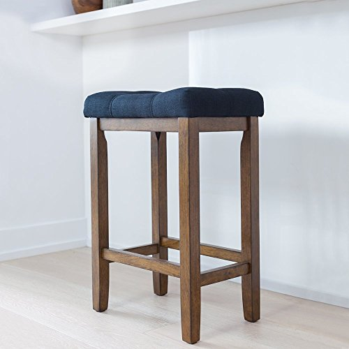 Wood Backless Bar Stools - 1