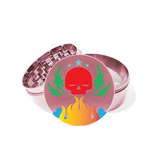 pink skull grinder - 2