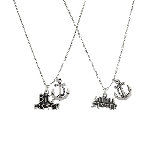 [Big Sister Little Sister Anchor BFF Best Friends Forever Necklace Set (2 PC).] (Big Sister Little Sister Costumes)