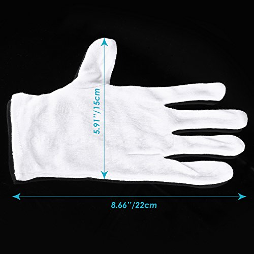 Neewer 24 Pairs (48 Gloves) 100% Cotton Lisle White Inspection Work Gloves for Coin, Jewelry, Silver, or Photo Inspection by Neewer (Image #2)