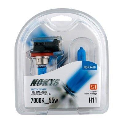 - NOKYA Arctic White H11 55w Halogen Headlight Bulbs