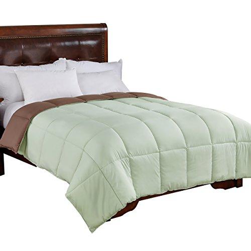 (Home Elements Reversible Down Alternative Comforter, Full/Queen Size)