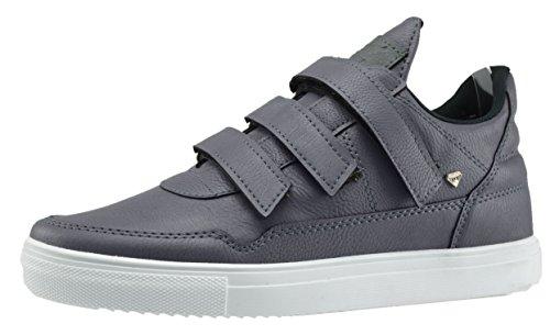 Baskets Caprium Haute Chaussures De Sport Basket Sneakers Hommes Dames, Unisexe 002 Blanc Gris
