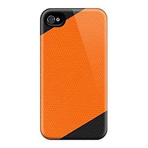 Defender Case With Nice Appearance (orange Black Reverse) For Iphone 4/4s