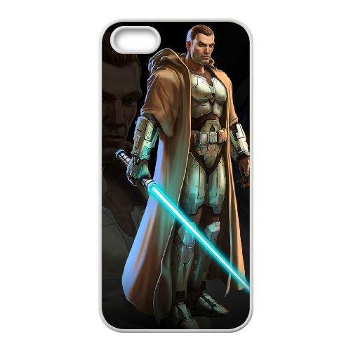 Star Wars The Old Republic 2 coque iPhone 5 5s cellulaire cas coque de téléphone cas blanche couverture de téléphone portable EEECBCAAN00528